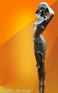 ART DECO CHIPARUS ILLUSION OF VIRTUE HOT CAST BRONZE STATUE FIGURE GIRL FIGURINE