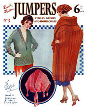 Leach's 6D #3 c.1922  Vintage Knitting Patterns for Women's Capes and Sweaters