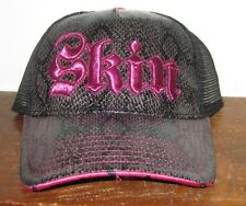 SKIN INDUSTRIES EMBROIDERED SNAPBACK Faux SNAKE SKIN - Embroidered SKIN