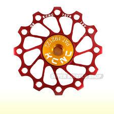 KCNC Ultra Light Alloy Rear Derailleur Pulley / Jockey Wheel , 12T, Red