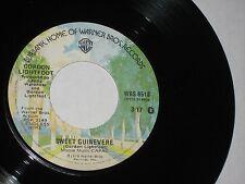 45 rpm GORDON LIGHTFOOT sweet guinevere WBS 8518 nice SEE PICS