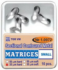 Dental Small Sectional Contoured Matrices 10 pcs TOR VM
