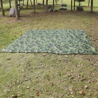 Military Camping Tent Tarp Mat Raincoat Awning Sun Shade Rain Shelter Waterproof