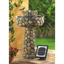 Faux Cobble Stone Water Fountain Outdoor Indoor Garden Decor