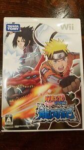 NARUTO SHIPPU DEN RYUJINKI Nintendo Wii Japan Import Anime NTSC-J Complete