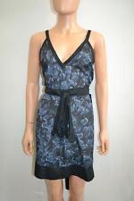 """NWT Proenza Schouler Black/Cobalt Blue """"Belted Sundress"""" Dress, Sz M/L"""