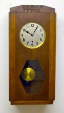Art Deco Regulator um 1930, 4/4 Westminster auf 8 Tonstäber, 8 Tage Werk massiv