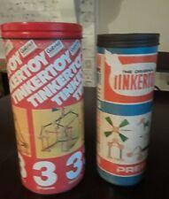 Tinkertoy Builder Sets Lot of 2 Vintage- Original  & 1979 Gabriel Not Complete