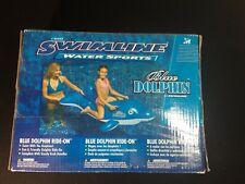 Swimline Blue Dolphin Water Sports Ride On Pool Float