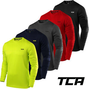 Men's TCA Element Long Sleeve Lightweight Breathable Crew Neck Running Top