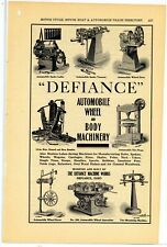 1910 Defiance Machine Works Ad: Auto Wheel & Body Machinery - Defiance, OhiO