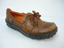 MIA Brown Leather Vintage Loafers Slip-On Women Shoes 6M