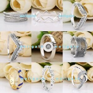 925 Sterling Silver Promise Stackable Statement Signature Rings Ring Sparkling
