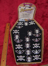OLDER RAVENS 21 HALLOWEEN ADJUSTABLE RINGS SKULLS BATS SPIDERS ORG. DISPLAY BOX