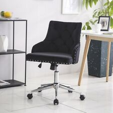 Velvet Office Chairs Swivel Tufted Task Desk Chair Adjustable Home Furniture Us