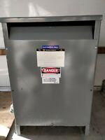 Square D Transformer 50 KVA Cat # 5099HIS 240 Amp 208/208 Volt 1 Phase