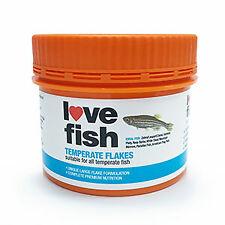 Love Fish Temperate Fish Food Flakes
