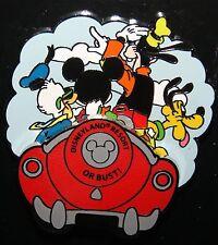 Disney Disneyland Resort Or Bust Fab 4 Driving Car Pin NOC 3D JULY 2014 RELEASE