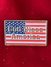 "New listing God Bless America Usa Us Flag Soft Enamel Tie Lapel Clutchback Pin 1"""
