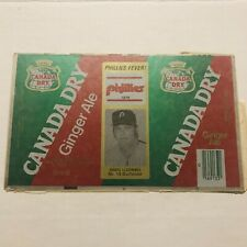 NEW 1979 GREG LUZINSKI Philadelphia Phillies #19 Canada Dry Ginger Ale Can Flat