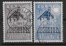 Belgium - 1957 - COB 1025/6 - Scott 512/3 - Used -