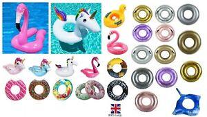INFLATABLE SWIM POOL FLOATS Raft Swimming Fun Kids Water Sports Beach Toy New UK