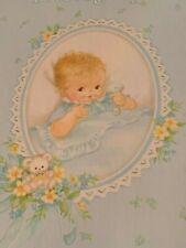 Vintage C. R. Gibson Baby's Photograph Memory Photo Album Book Blue