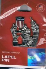2012 London Silver Londonscape USA Olympic Team NOC Pin New in Package