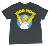 The Simpsons Men's T Shirt Homer Cheering Woo Hoo Distressed Graphic Tee
