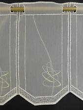 m/ € 12,19 Scheibengardine Gardine Bistrogardine 31 cm hoch ecrue 5348