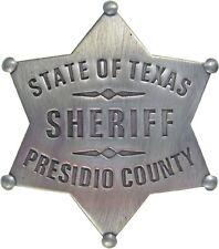 Old West Presidio County Sheriff Badge (Rio Bravo, John Wayne)