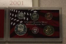 2001 U.S. Mint Silver Proof Set, Original Packaging/Paperwork