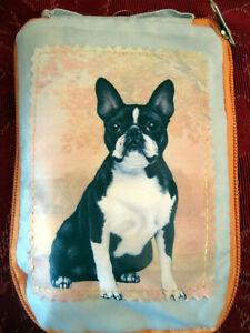 Zippered, foldable BOSTON TERRIER Dog Shopping Bag