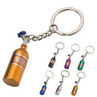 NOS Bottle Oxide Nitrous Pill Stash Box Car Keychain Keyring Key Fob Ring 12UK