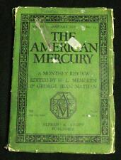 THE AMERICAN MERCURY MAGAZINE JANUARY 1925 A MONTHLY REVIEW - VINTAGE