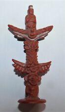 ANCIEN PETIT SOLDAT 1/32. TOTEM MARRON POUR CAMP INDIEN 92mm, TIMPO? NO STARLUX