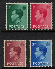GB stamps edward viii - 1936 definitives Mint NH - fresh sg sg457-460