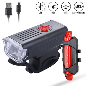 USB Rechargeable Bike Bicycle LED Headlight Front Rear Light 5000LM LED Lamp