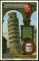 La Tour Penchee Bell Tower Pisa Italy 1920s Trade Ad Card