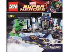 LEGO Hulk Helicarrier Breakout Super Heroe Instruction Booklet From Set 6868 NEW
