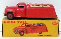 Vintage Dinky 440 - Tanker Mobilgas - Red