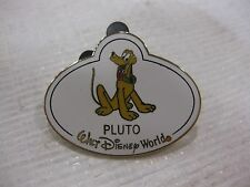 Rare Disney Pin Limited Edition Mystery Tin Collection Nametag With Pluto pin710