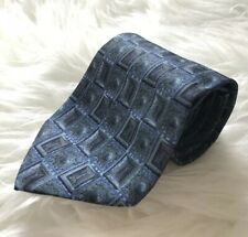 Gianfranco Ferre Blue Silk Neck Tie Geometric Square Circle Wedding Silk Italy