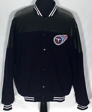 Tennessee Titans NFL Football Team Embroidered Logo Reebok Varsity Style Jacket