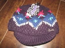 Barts Kids Purple Mia Visor Kids Knit Hat - Size 1-3 Years - NWT $19.99 EU