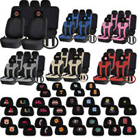Universal NCAA Head Rest Cover UAA Double Stitched Seat Steering Wheel Cover Set