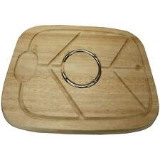 Hevea Di Legno di qualità in LEGNO BORDO carne di volatili da cortile Carving Board con punte Anello Nuovo
