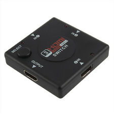 3 IN 1 OUT Splitter 3 Port 1080P Video HDMI Switch Switcher For HD HDTV PS3 DVD