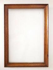 Cadre ancien en bois sculpté (46 x 32 cm)