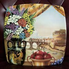 """Italian Ceramic Company ICC - Roma Memories square plate 11"""""""